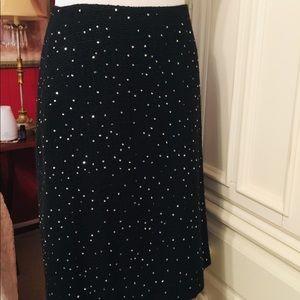 Ann Taylor Sequined Midi-Skirt
